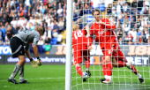 Fernando Torres of Liverpool celebrates his goal during the Barclays Premier League match between Bolton Wanderers and Liverpool at Reebok Stadium on...