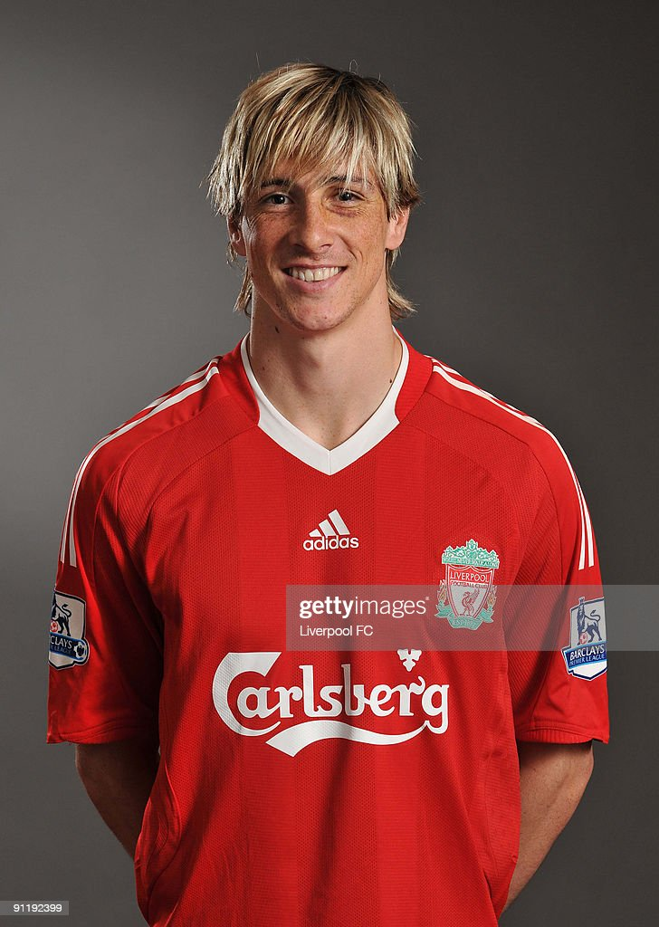 Fernando Torres of Liverpool FC poses during a Liverpool FC 2009/2010 season photocall in Liverpool, England.