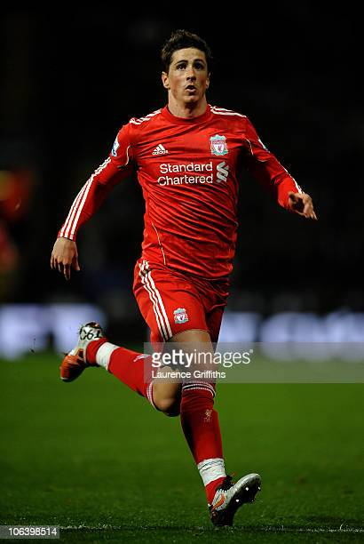 Fernando Torres of Liverpool in action during the Barclays Premier League match between Bolton Wanderers and Liverpool at the Reebok Stadium on...