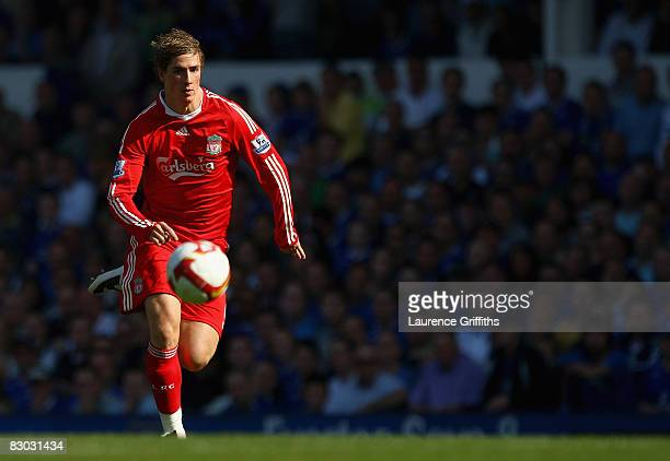 Fernando Torres of Liverpool in action during the Barclays Premier League match between Everton and Liverpool at Goodison Park on September 27 2008...