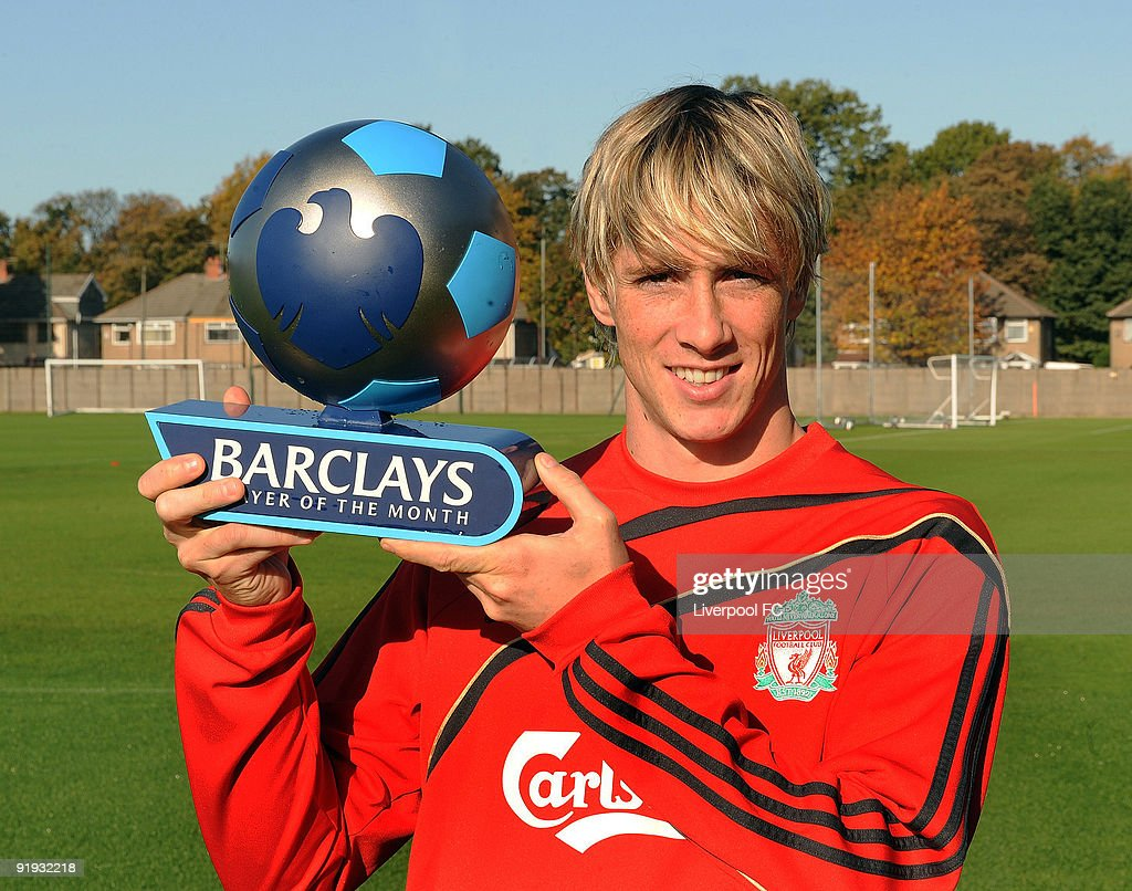 Fernando Torres Liverpool Wins Barclays Player The Month