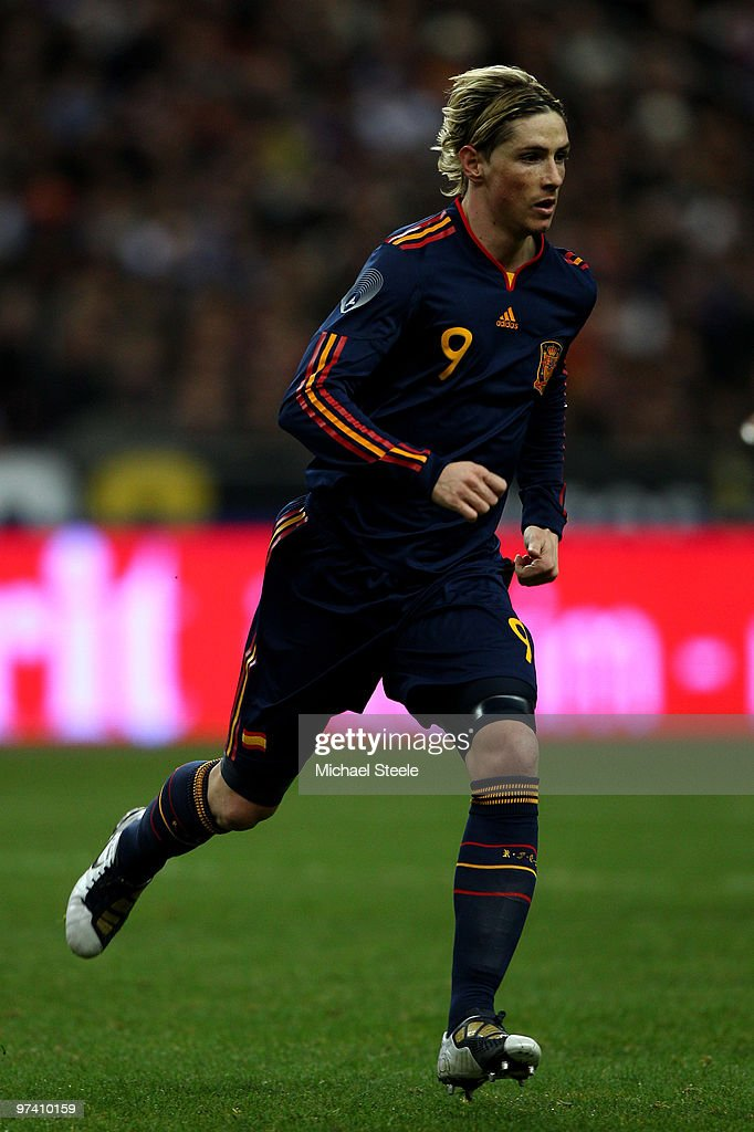 Fernando Torres of Spain during the France v Spain International Friendly match at the Stade de France on March 3, 2010 in Paris, France.