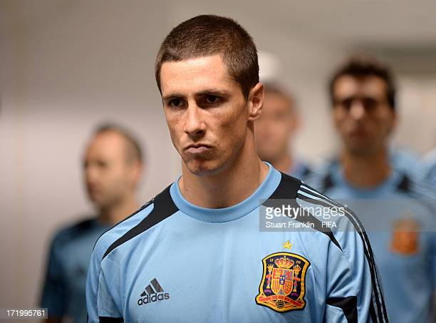 Fernando Torres of Spain looks on prior to the FIFA Confederations Cup Brazil 2013 Final match between Brazil and Spain at Maracana on June 30 2013...