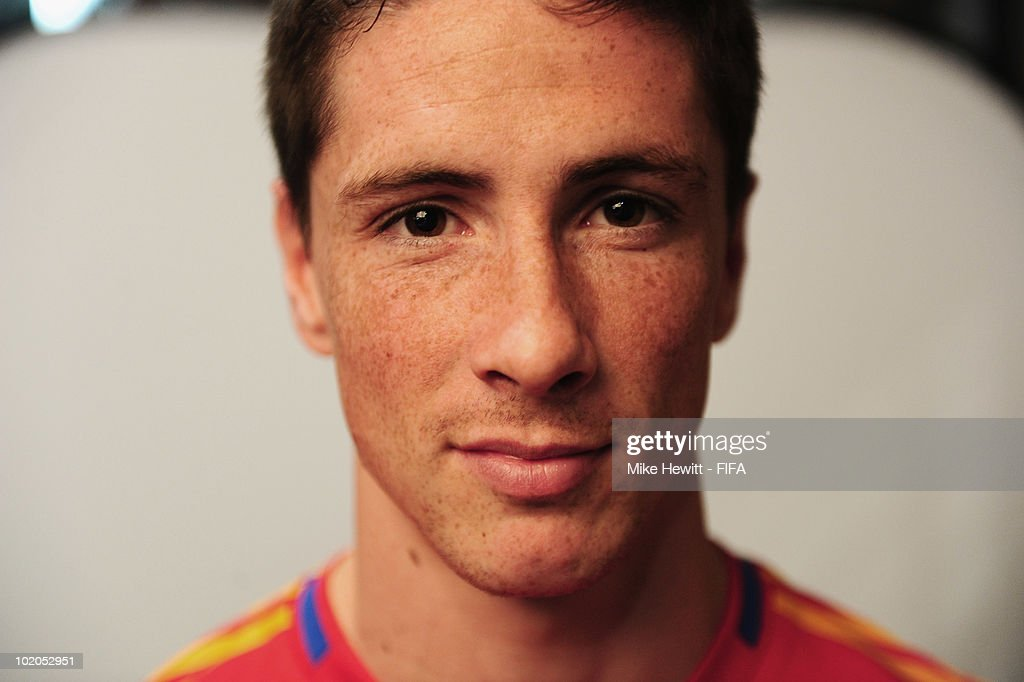 Fernando Torres of Spain poses during the official Fifa World Cup 2010 portrait session on June 13, 2010 in Potchefstroom, South Africa.