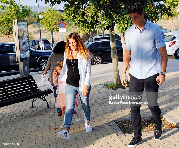 Fernando Torres Olalla Dominguez and their daughter Nora Torres are seen on September 4 2015 in Madrid Spain