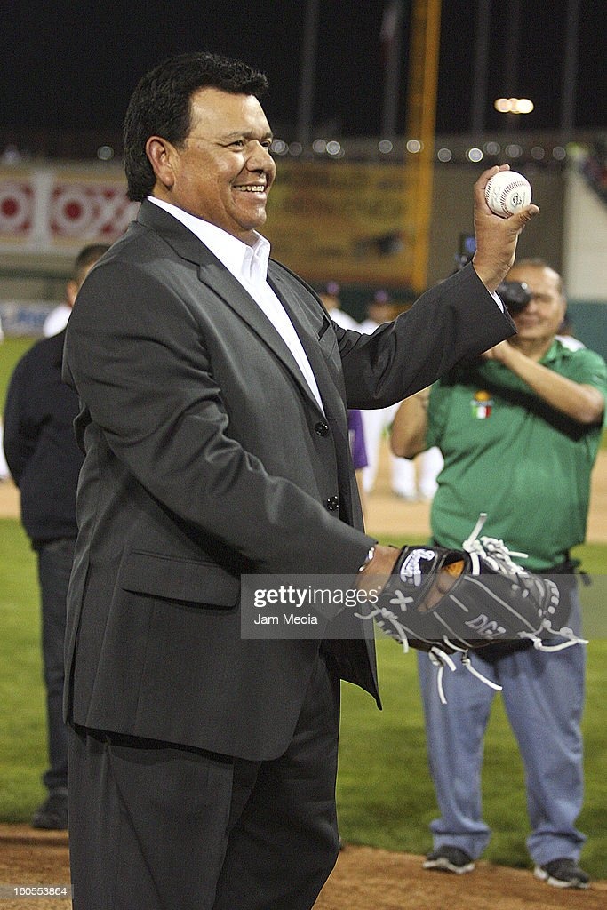 <a gi-track='captionPersonalityLinkClicked' href=/galleries/search?phrase=Fernando+Valenzuela&family=editorial&specificpeople=217547 ng-click='$event.stopPropagation()'>Fernando Valenzuela</a> of Mexico during the Caribbean Series Baseball 2013 in Sonora Stadium on february 1, 2013 in Hermosillo, Mexico.