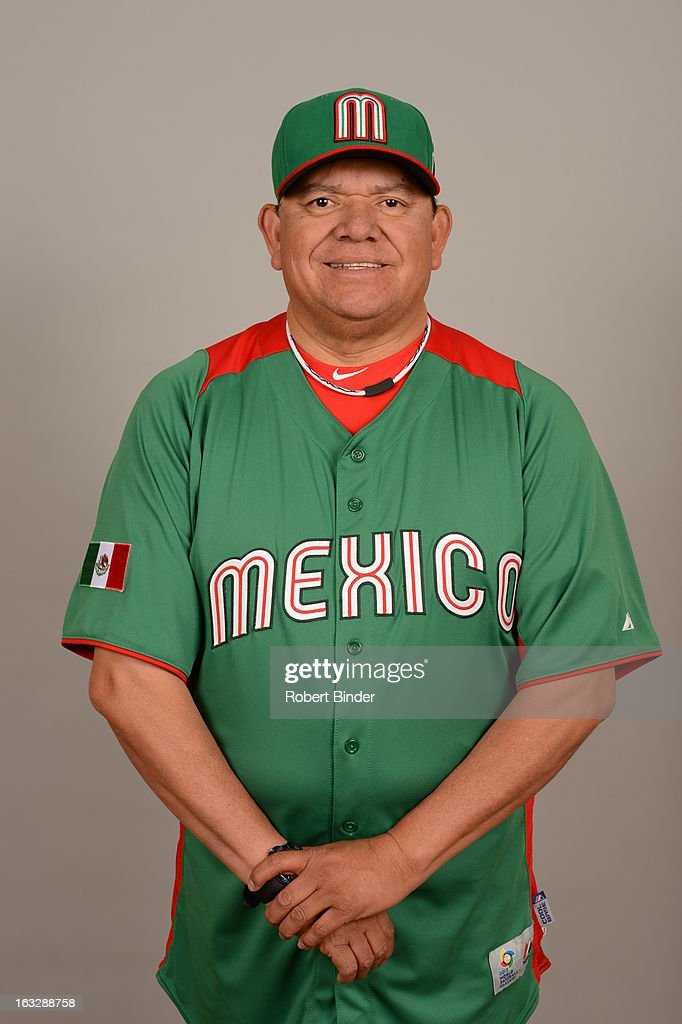 <a gi-track='captionPersonalityLinkClicked' href=/galleries/search?phrase=Fernando+Valenzuela&family=editorial&specificpeople=217547 ng-click='$event.stopPropagation()'>Fernando Valenzuela</a> #34 of Team Mexico poses for a headshot for the 2013 World Baseball Classic on Monday, March 4, 2013 at Camelback Ranch in Glendale, Arizona.