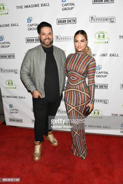 Fernando Varela and Pia Toscana attend The Imagine Ball 2017 on October 12 2017 in West Hollywood California