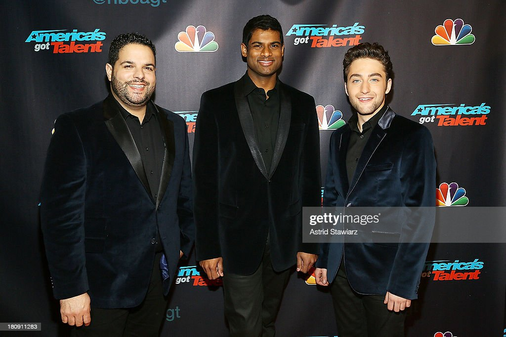 Fernando Varela, Sean Panikkar and Josh Page from musical group Forte attend 'America's Got Talent' Season 8 Pre-Show Red Carpet Event at Radio City Music Hall on September 17, 2013 in New York City.
