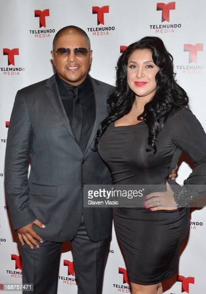 Fernando Vargas and Martha Lopez Vargas attend the 2013 Telemundo Upfront at Frederick P Rose Hall Jazz at Lincoln Center on May 14 2013 in New York...
