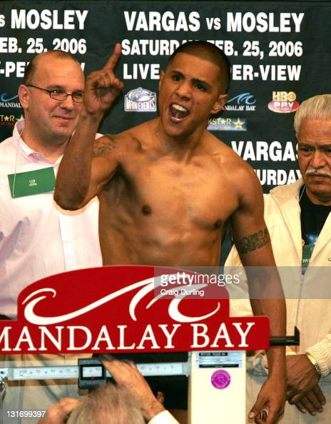 Fernando Vargas before the middleweight 'Showdown' against 'Sugar' Shane Mosley at the Mandalay Bay Resort in Las Vegas Nevada on February 25 2006...