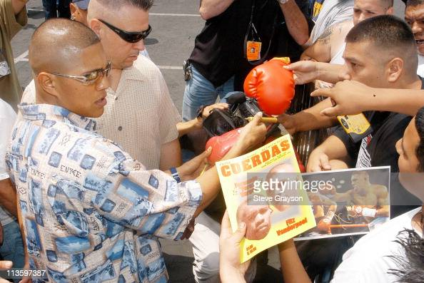 Fernando Vargas during Fernando VargasFitz Vanderpool PreFight Press Conference at The Grand Olympic in Los Angeles California United States