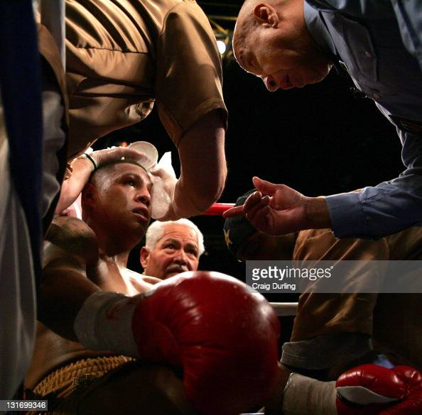 Fernando Vargas during the junior middleweight 'Showdown' at the Mandalay Bay Resort in Las Vegas Nevada on February 25 2006 Mosley went on to take...