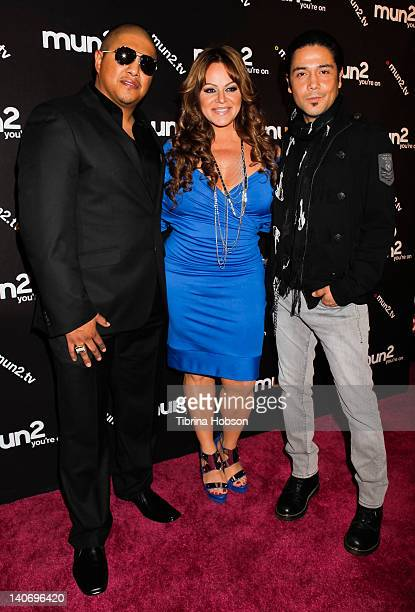 Fernando Vargas Jenni Rivera and Chris Perez attend the premiere of mun2's 'I Love Jenni' Season 2 at My House on March 1 2012 in Hollywood California