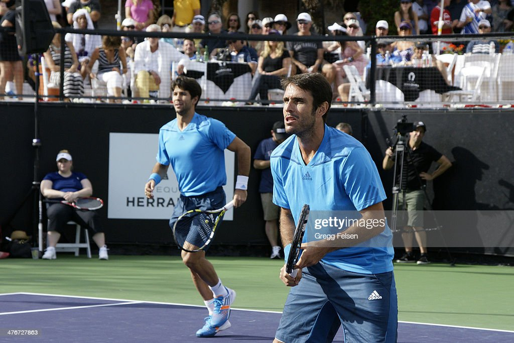 <a gi-track='captionPersonalityLinkClicked' href=/galleries/search?phrase=Fernando+Verdasco&family=editorial&specificpeople=213930 ng-click='$event.stopPropagation()'>Fernando Verdasco</a> and <a gi-track='captionPersonalityLinkClicked' href=/galleries/search?phrase=David+Marrero&family=editorial&specificpeople=5357971 ng-click='$event.stopPropagation()'>David Marrero</a> attends the 10th Anniversary Desert Smash at La Quinta Resort and Club on March 4, 2014 in La Quinta, California.