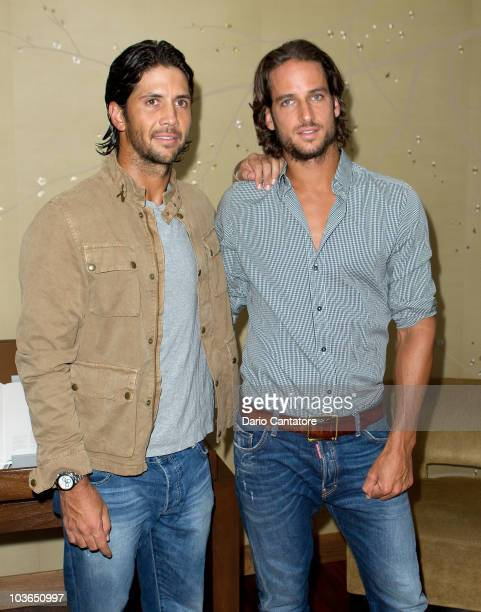 Fernando Verdasco and Feliciano Lopez attend a reception at Trump SoHo on August 26 2010 in New York City