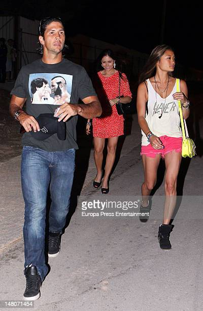 Fernando Verdasco and his girlfriend Jara Mariano attend Rock in Rio Madrid 2012 on July 8 2012 in Arganda del Rey Spain