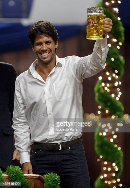 Fernando Verdasco attends Paulaner Oktoberfest party at Barclaycard Center on September 17 2014 in Madrid Spain