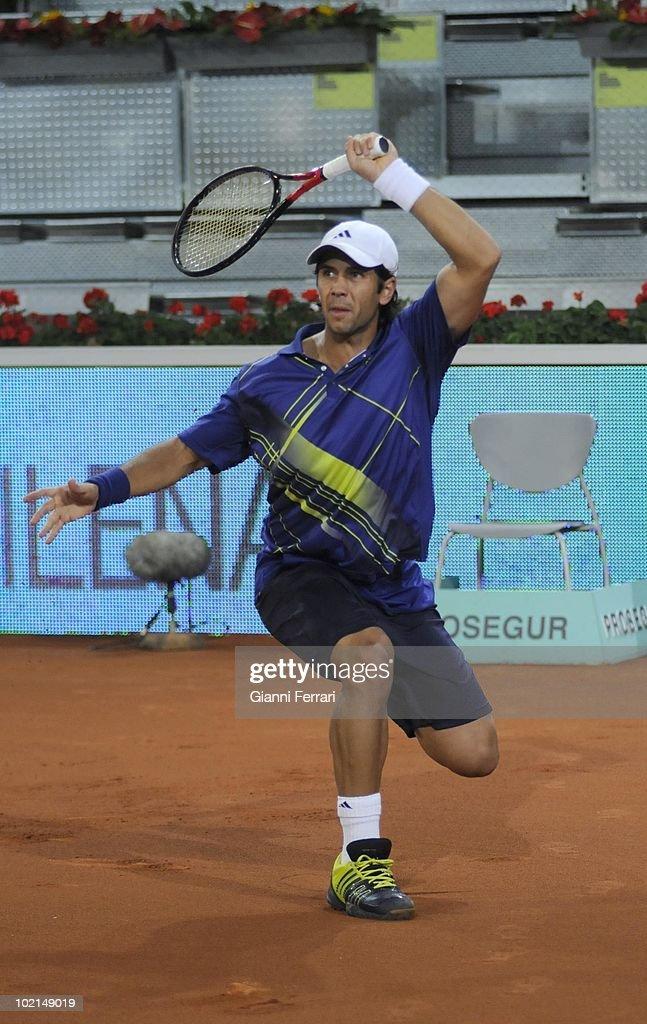 Fernando Verdasco, ESP, in the tennis 'Mutua Madrilena Madrid Open', 8th May 2010, 'La Caja Magica', Madrid, Spain.