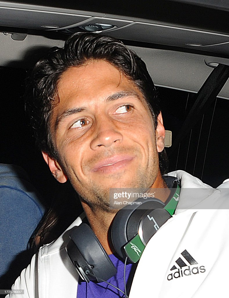 Fernando Verdasco sighting leaving Wimbledon on July 3, 2013 in London, England.