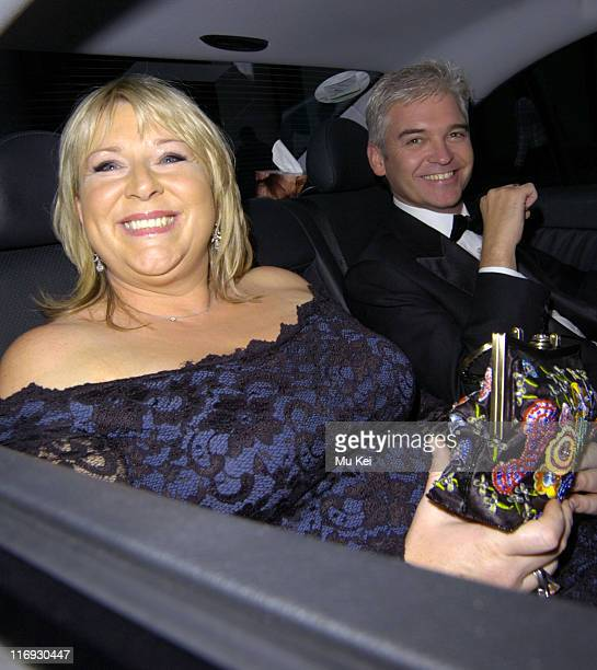 Ferne Britton and Phillip Schofield during ITV's 50th Anniversary Royal Reception Outside at Guildhall in London Great Britain