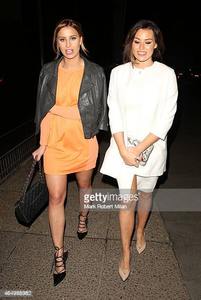 Ferne McCann and Jessica Wright attending The Sun Bizarre Party at Steam and Rye on March 2 2015 in London England