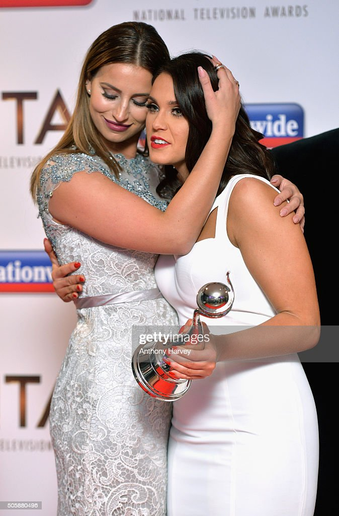 Ferne McCann and Vicky Pattison pose with their award for Best Entertainment Programme 'I'm A CelebrityGet Me Out Of Here' the 21st National...