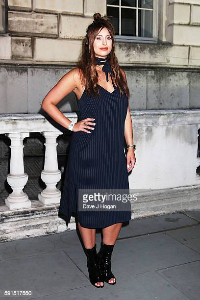 Ferne McCann arrives for the 'Captain Fantastic' UK film premiere part of the Film4 Summer Series at Somerset House on August 17 2016 in London...