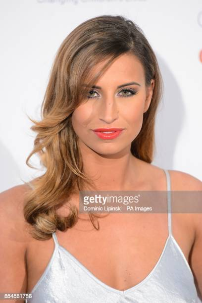 Ferne McCann arriving at the Caudwell Children Butterfly Ball at the Grosvenor House hotel in central London
