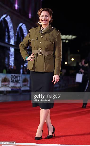 Ferne McCann attends 'Dad's Army' World Premiere on January 26 2016 in London United Kingdom