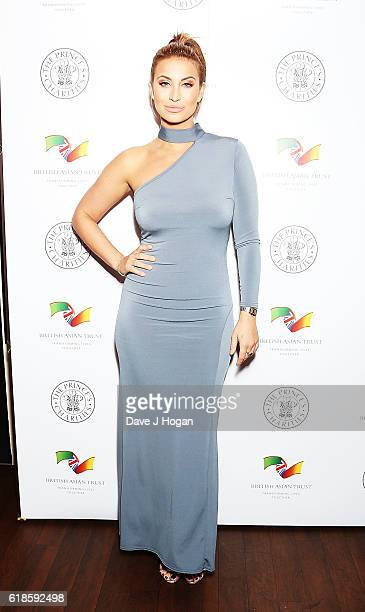 Ferne McCann attends the annual Elbrook Gala Dinner in aid of The British Asian Trust and their newly launched 'Give A Girl A Future' appeal at Chak...