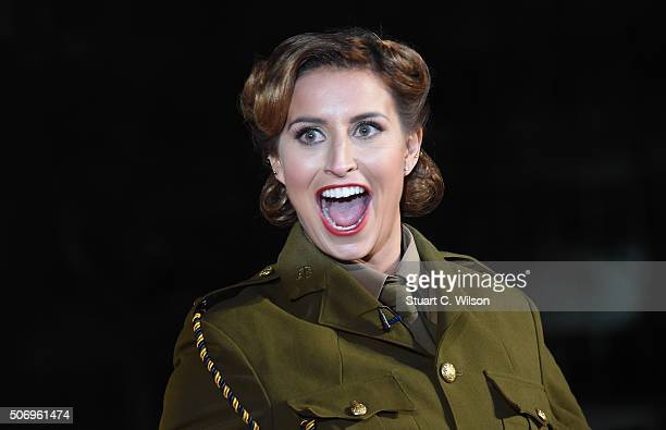 Ferne McCann attends the 'Dad's Army' World Premiere at Odeon Leicester Square on January 26 2016 in London England