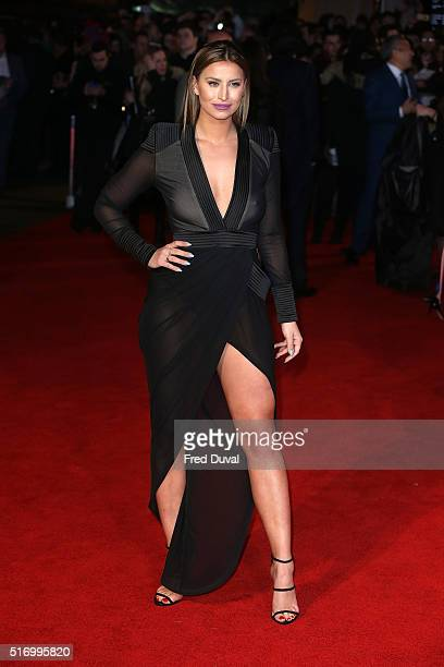 Ferne McCann attends the European Premiere of 'Batman v Superman Dawn Of Justice' at Odeon Leicester Square on March 22 2016 in London England