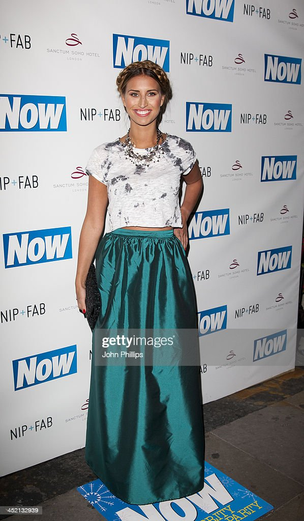 Ferne McCann attends the Now Magazine Christmas party at Soho Sanctum Hotel on November 26, 2013 in London, England.