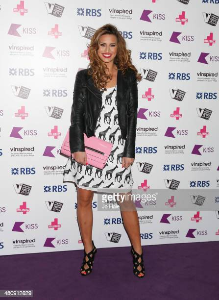 Ferne McCann attends the vinspired National Awards at Indigo2 at O2 Arena on March 27 2014 in London England