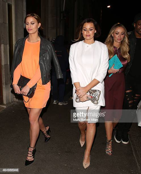Ferne McCann Jessica Wright and Lauren Pope attending The Sun Bizarre Party at Steam and Rye on March 2 2015 in London England