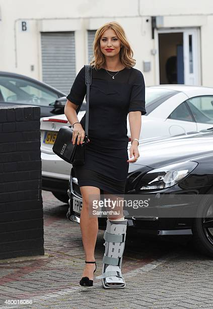 Ferne McCann pictured filming on July 8 2015 in Chigwell England