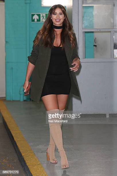 Ferne McCann seen at the ITV Studios after appearing on This Morning after recently having nose job surgery on August 15 2016 in London England