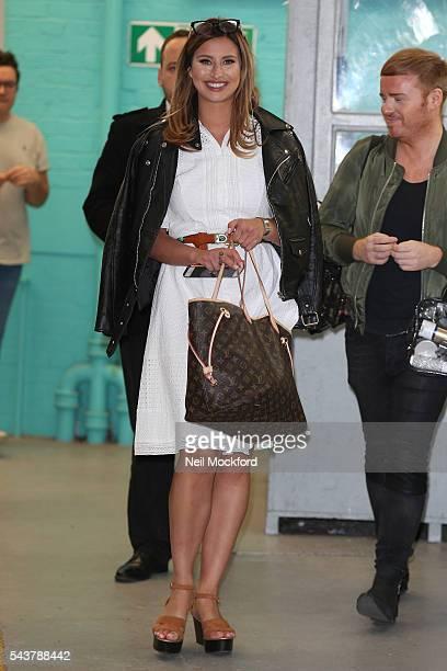 Ferne McCann seen at the ITV Studios on June 30 2016 in London England
