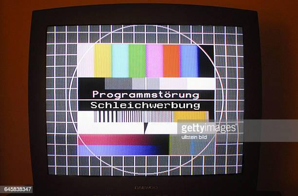 Fernsehen TV ZDF ARD Testbild Programmstˆrung Programmstˆrungen Fernseher sehen gucken Bildschirm Bildschirme Fernsehbild Schleichwerbung Werbung...