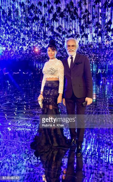Feroze Gujral with Sunil Sethi President Fashion Design Council of India at the FDCI's India Couture Week 2017 at the Taj Palace hotel on July 30...