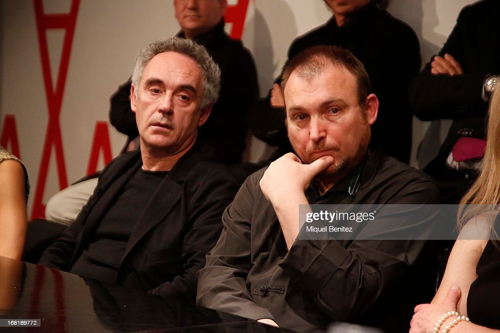 Ferran Adria and Miquel Barcelo attend 'El Somni' 'The Dream' Gastronimic Opera Performance on May 6 2013 in Barcelona Spain