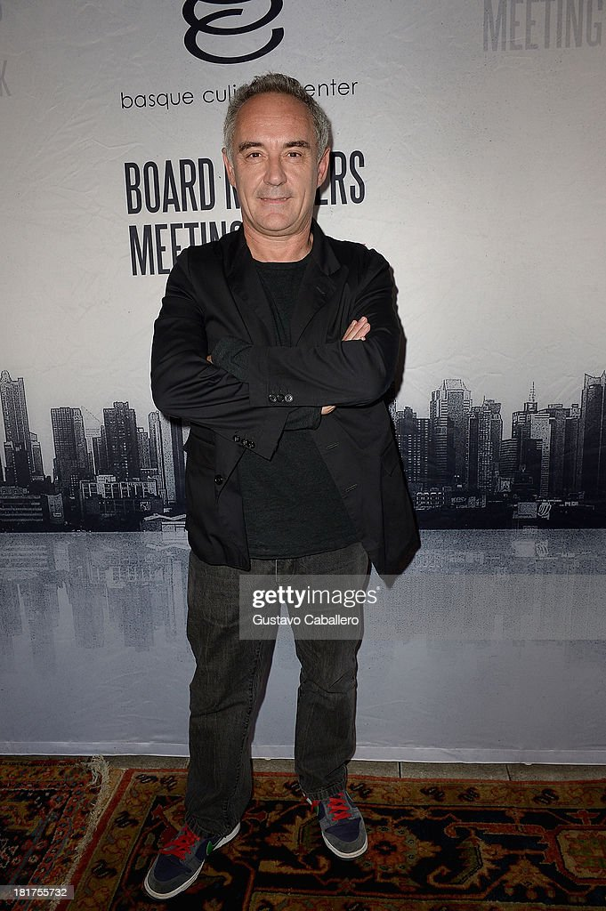 Ferran Adria attends 'Spain's Great Match' Culinary Event at The NoMad Hotel on September 24, 2013 in New York City.
