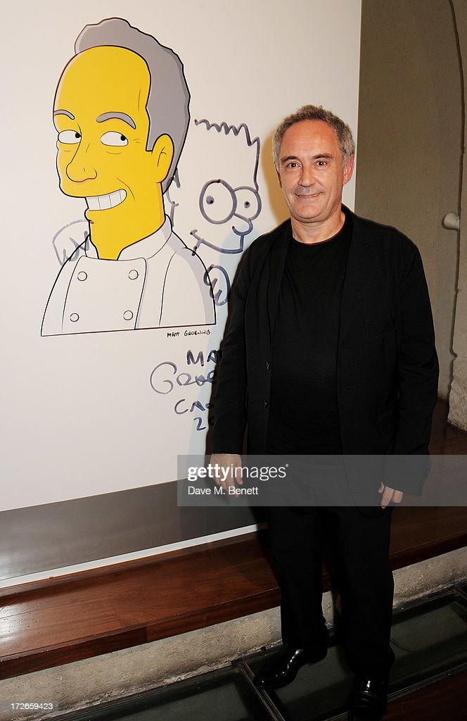 Ferran Adria attends the private view of 'elBulli: Ferran Adria and The Art of Food' at Somerset House on July 4, 2013 in London, England. The exhibition, in partnership with Estrella Damm, opens on July 5th and runs until September 29th 2013.