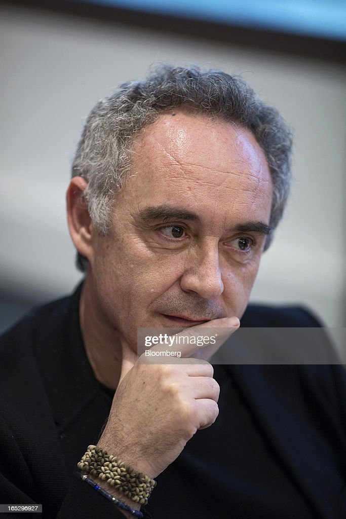 Ferran Adria, chef of the former El Bulli restaurant, listens during an interview in Hong Kong, China, on Monday, April 1, 2013. Fans who mourned the closing of El Bulli in 2011 will get a chance to buy a piece of its history at a Sotheby's auction in Hong Kong today. Photographer: Jerome Favre/Bloomberg via Getty Images