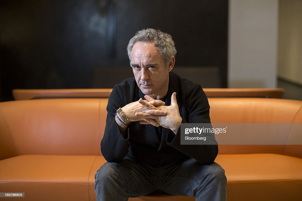 Ferran Adria, chef of the former El Bulli restaurant, poses for a photograph in Hong Kong, China, on Monday, April 1, 2013. Fans who mourned the closing of El Bulli in 2011 will get a chance to buy a piece of its history at a Sotheby's auction in Hong Kong today. Photographer: Jerome Favre/Bloomberg via Getty Images