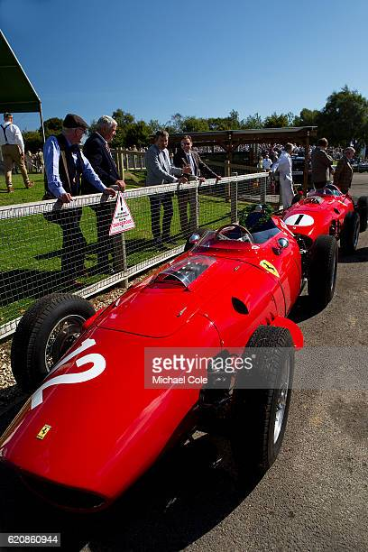 Ferrari 246 Dino Grand Prix car parked up in the Parc Ferme area at Goodwood on September 11 2016 in Chichester England