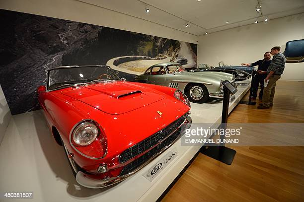 Ferrari 250 GT Cabriolet Series II is on display during a preview of the 'Art of Automobile' auction at Sotheby's in New York November 18 2013 in New...