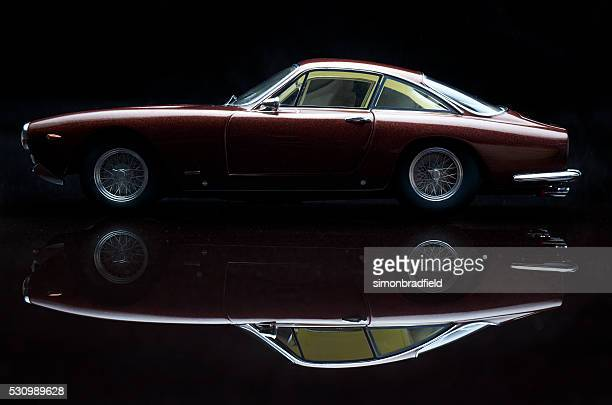 Ferrari 250 GT Lusso Model Car On Black