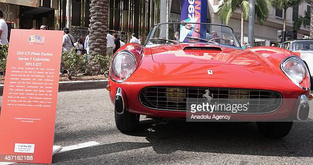 Ferrari 250 GT Pinin Farina is on display at the 'Race Through the Decades 19542014'' during the celebration of 60th anniversary of Ferrari in...